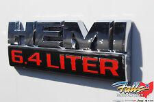 Dodge Ram Jeep 6.4 Liter Hemi Logo Decal Emblem Nameplate Badge Mopar OEM