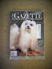 AKC Gazette June 2001 Maltese cover - in plastic sleeve-perfect condition!!