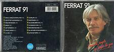 CD 14T JEAN FERRAT DANS LA JUNGLE OU DANS LE ZOO DE 1991TRES BON ETAT COMME NEUF