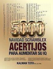 Spanish IQ Boost Puzzles: 5000 Navidad Scramblex Acertijos para Aumentar Su...