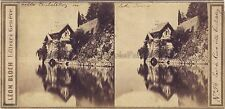Lac de Côme Como Villa Italie Photo Léon Bloch Stereo Vintage Albumine ca 1860