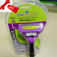 New Furminator DeShedding Tool - Long Hair Removal Tool for Large Cats