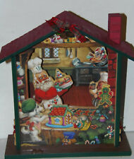 Musical Wooden House Christmas Carolers Animated House Vintage