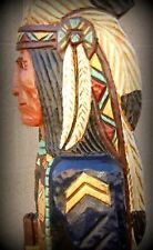 6' Cigar Store Indian Sergeant Blue Coat Calvary 6 ft Wood by Frank Gallagher