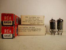 Six 6Au6 Vacuum Tubes Including an Amazing 1952 Raytheon Untested!