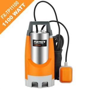 Pompe immergée 1100W FUXTEC FX-TP11100 15000 litres/h eaux usées étang