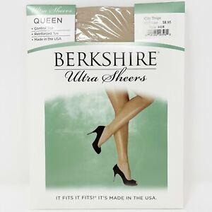 Berkshire Ultra Sheer Control Top Reinforced Toe Hosiery Plus Size Queen Petite