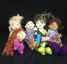 "Lot of 5 Groovy Girls Dolls Plush 13"" Toy Britta Caitlyn Oryan Natalya Trini"