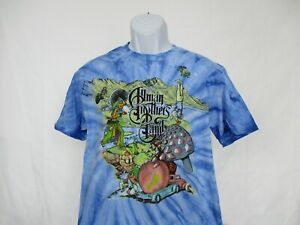 Allman Brothers Band Concert T-Shirt - Blue Tie Dye - Men Size Small NEW