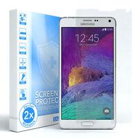 2x SCHUTZGLAS FÜR Samsung Galaxy Note 4 PANZER DISPLAYFOLIE ECHT GLAS 9H