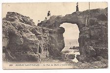 bureau saint-palais , le pont du diable à marée basse