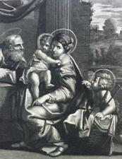 HAPPY FAMILY Metz Radden Gravure BIBLE BROWN 1814