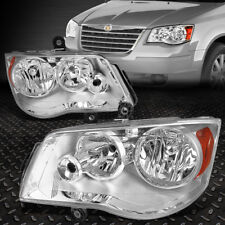 For 2008-2016 Chrysler Town&Country Chrome Housing Amber Side Headlight/Lamp Set (Fits: Chrysler)