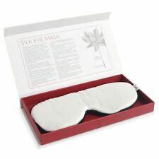 100% Mulberry 19 momme Silk Sleep Eye Mask - Reducing Wrinkles- White Lotus
