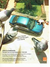 Publicité Advertising 028  2007  réseau mobile Orange  open  la mobicarte
