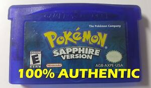 AUTHENTIC Pokemon Sapphire Version Can Save New Battery Game boy Advance