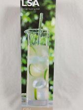 LSA International Handmade Glass Gin G&T Cocktail Jug Carafe & Stirrer