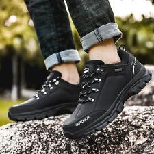 Мужской кожаный легкий водонепроницаемый лодыжки bootswalking пешие прогулки тропа сапоги обувь