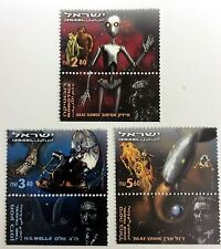 2000 ISRAEL SCI-FI STAMPS SET OF3 TIME TRAVEL SPACE JULES VERNE SCIENCE FICTION