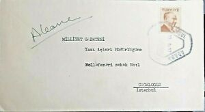 1957 Turkey  Cover sent from Konya from train to Milliyet Newspaper in İstanbul.