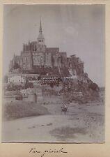 Mont Saint-Michel France Photo Amateur Vintage citrate 1900