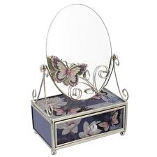 Flowers with Butterfly Jewellery Box with Mirror HE394MJB