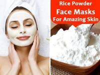 White Rice Powder Marks Skin Brighter Whiter Exfoliate Lighten Pigment Blemish