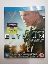 Sale ONLY SLIP COVER for 2013 sf film 'ELYSIUM' no Blu Ray Disc or Case