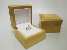 Large Ring Box Luxury Natural Wood High Gloss Ideal For Larger Rings Gents Men's