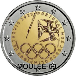 2 EUROS PORTUGAL 2021 -PREVENTA- JUEGOS OLIMPICOS DE TOKIO.UNC-S/C