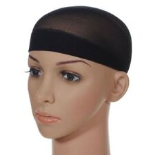 New Unisex Weaving Ultra Stretch Wig Liner Stocking Nylon Caps Black