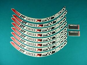 DT SWISS XPW1800 26 COLL MTB RIM & HUB REPLACEMENT DECAL SET FOR 2 RIMS