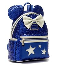 Sac a dos Backpack Loungefly Blue Disneyland Paris Wishes Come True Disney