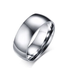 Wholesale 24pcs 316L Stainless Steel Men Women's 8mm Wedding Band Rings
