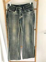 Diesel White Wash Womens Jeans Size 28