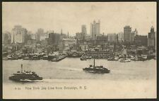 New York Sky Line from Brooklyn. New York - c1905 Postcard. by Rotograph