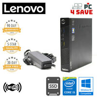 Lenovo ThinkCentre M73 Tiny Mini PC i5 4570T up to 3.6Ghz 8GB 256GB SSD Win10 WF