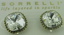 Sorrelli Clear Crystal Earrings EBX10AGCRY  antique gold tone