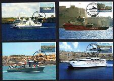 Malta 2011 Max Maximum Cards Maritime Set of 4 Cards No. 38 - 41