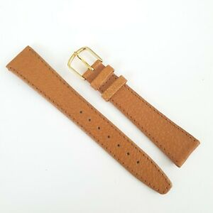 GENUINE ROTARY 18MM PIG SKIN LEATHER WATCH TAN STRAP
