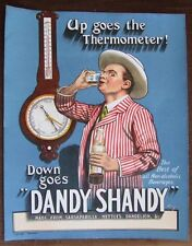 "Original  ""Dandy Shandy"" Poster. ""Best of all Non-alcoholic beverages""!"