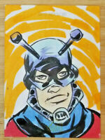 2018 UPPER DECK FLAIR MARVEL 1/1 HAND DRAWN SKETCH CARD * ANT MAN * BY GOATHERS