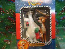 Trevco 1998 Rudolph The Movie Christmas Collectable Polar Bear Ornament Nib