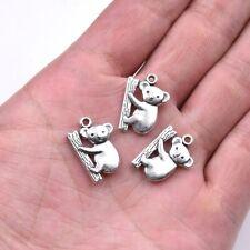 10X Tibetan Silver Koala Bear Animal Charm Pendant For DIY Earrings/Bracelet