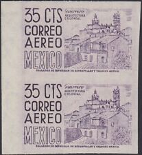 MEXICO, 1950-52. Air Mail Retouched C191b pair, Mint