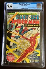Giant-Size Spider-Man #6 CGC 9.6 White Pages Human Torch Mysterio New Case