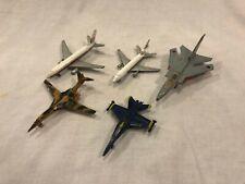 5 Vintage Diecast Planes Fighter Jets Bomber Commerical F132 DC10 Blue Angels