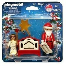 SANTA CLAUS & ANGEL christmas WORKING ORGAN playmobil 5875 NEW pere noel