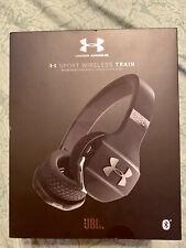 JBL Under Armour Sport Wireless Train On-Ear Sport Headphones Black New