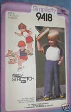 9418 Vintage Simplicity Sewing Pattern Toddler Tank Top Shorts 1 2 3